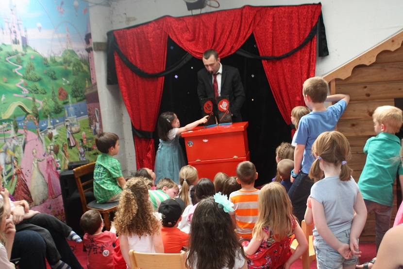 Image result for magician with kids
